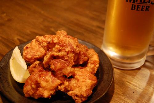 唐揚とビール