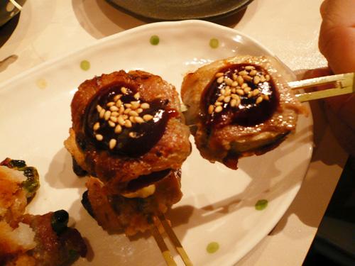 豚巻串盛り合わせ(3本)ナス